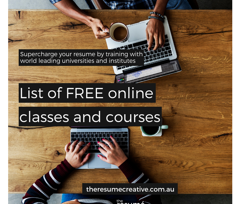 Boost Your Resume With FREE Training